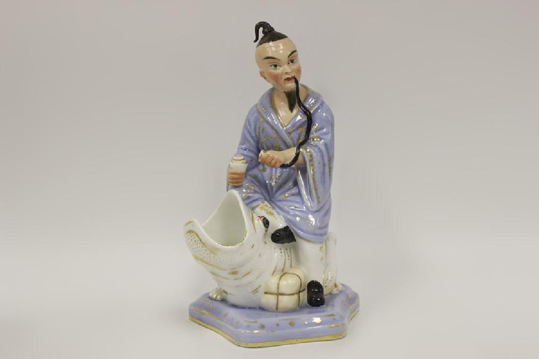 19thc Paris Porcelain Figure of an Oriental Man