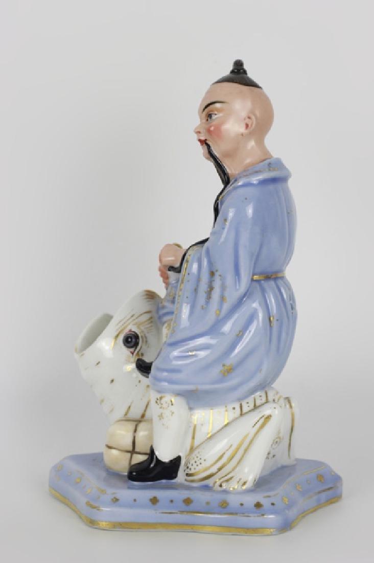 19thc Paris Porcelain Figure of an Oriental Man - 9