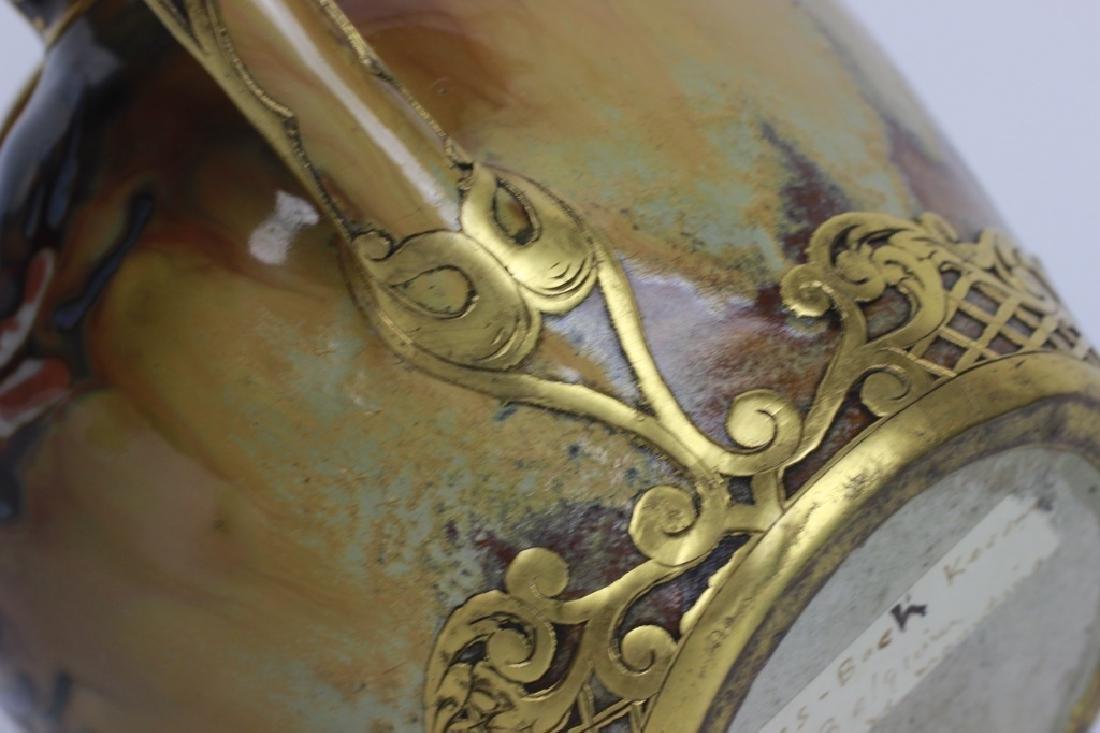 Rare Belgian Porcelain Teapot-Gilt Bronze Mounting - 10