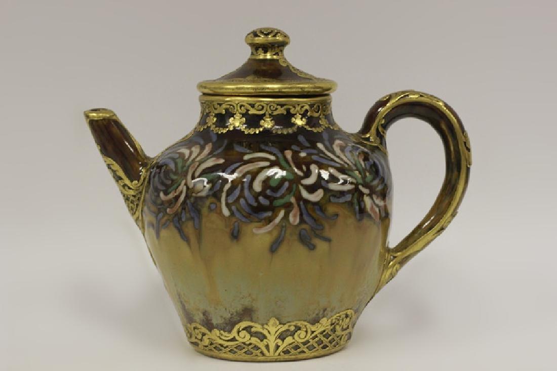 Rare Belgian Porcelain Teapot-Gilt Bronze Mounting