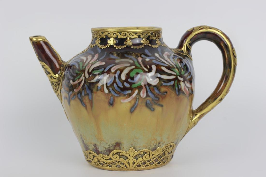 Rare Belgian Porcelain Teapot-Gilt Bronze Mounting - 2