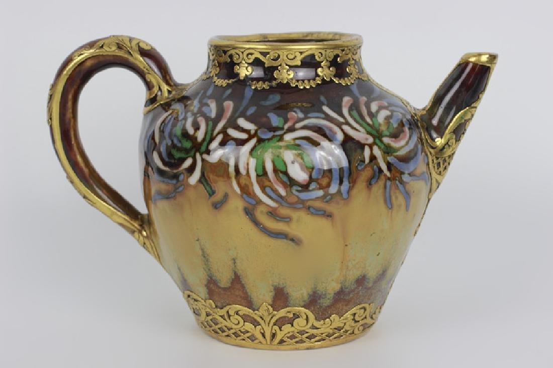 Rare Belgian Porcelain Teapot-Gilt Bronze Mounting - 5