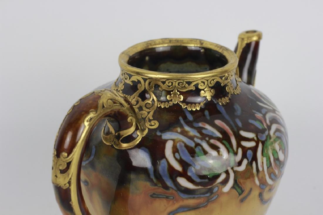 Rare Belgian Porcelain Teapot-Gilt Bronze Mounting - 6