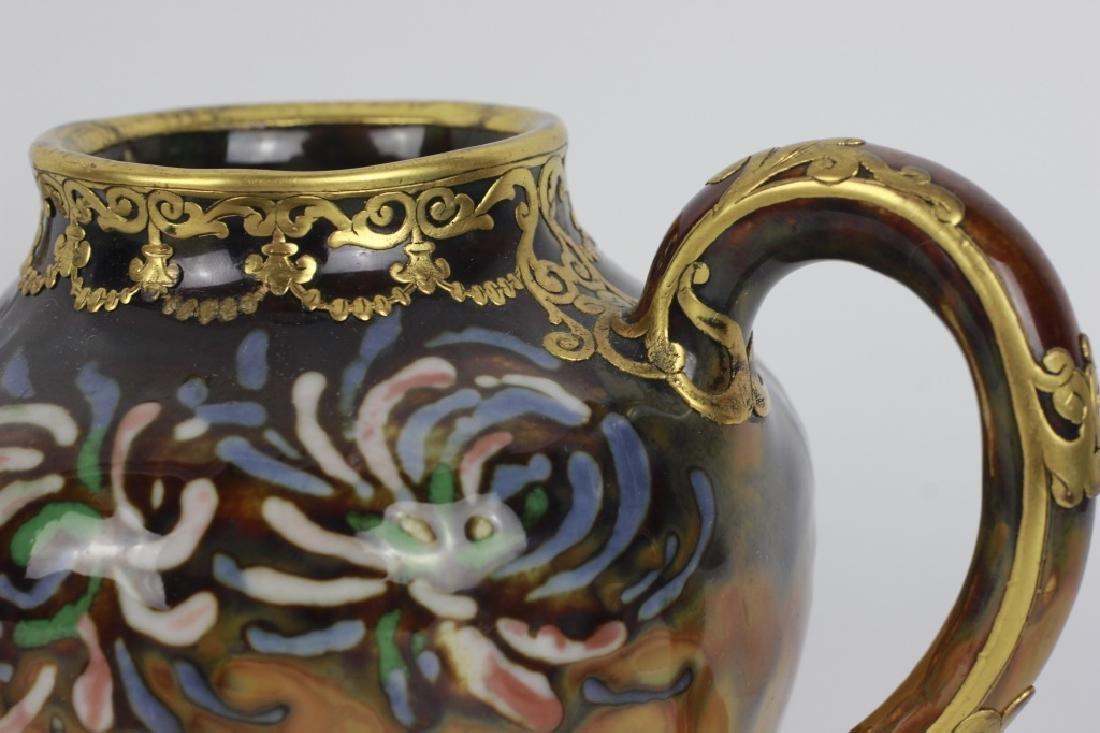 Rare Belgian Porcelain Teapot-Gilt Bronze Mounting - 9