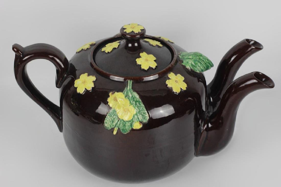 19thc English (Bargware) Double Spouted Coffeepot - 4