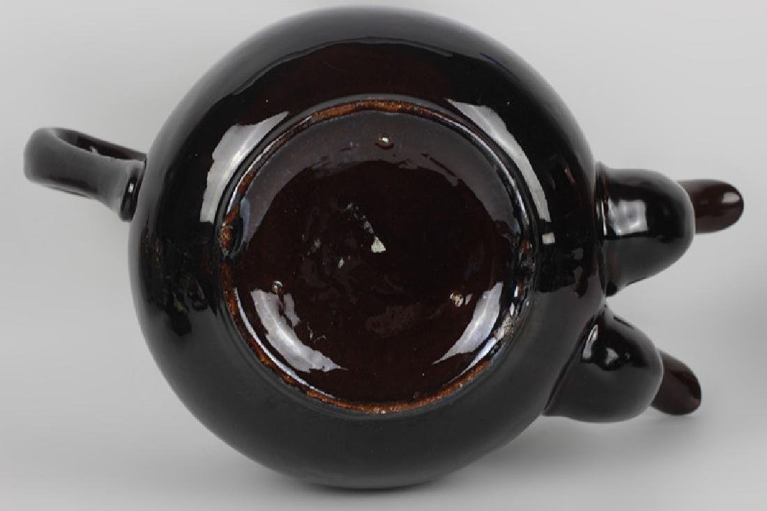 19thc English (Bargware) Double Spouted Coffeepot - 6