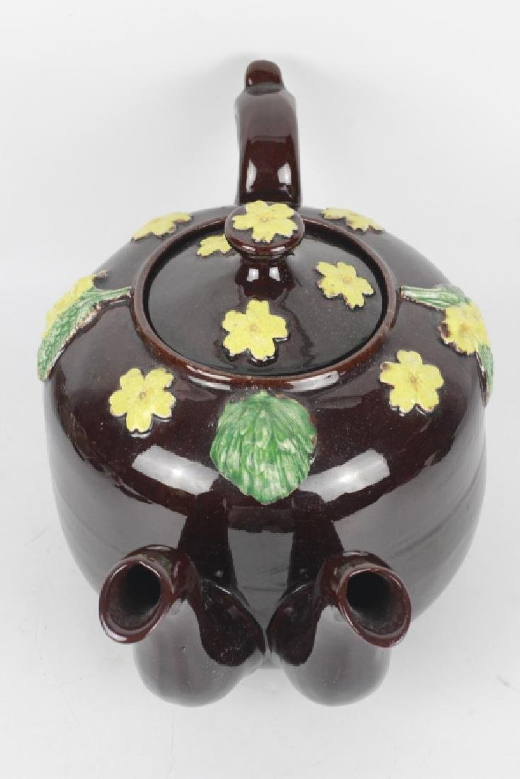 19thc English (Bargware) Double Spouted Coffeepot - 7
