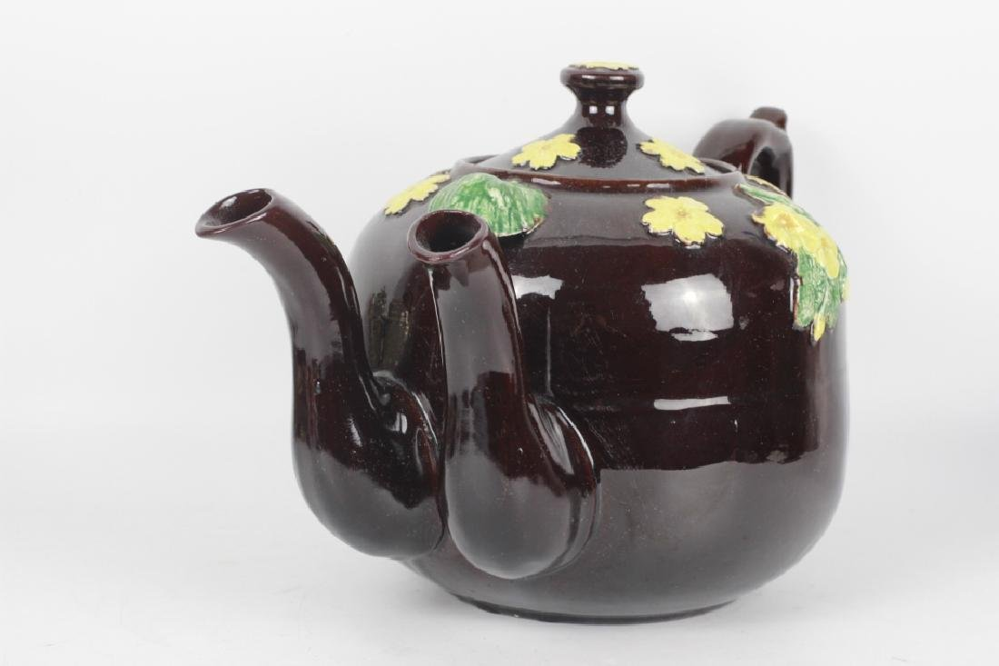 19thc English (Bargware) Double Spouted Coffeepot - 9