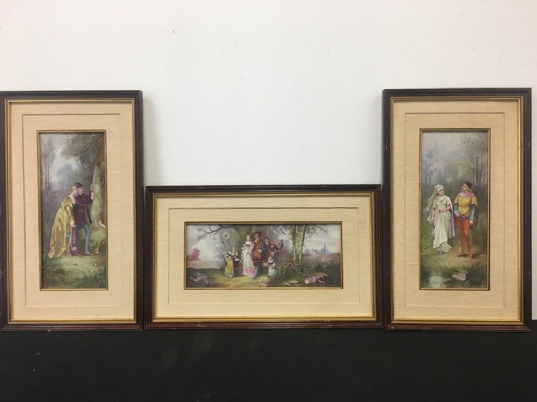 3 Framed Porcelain Plaques