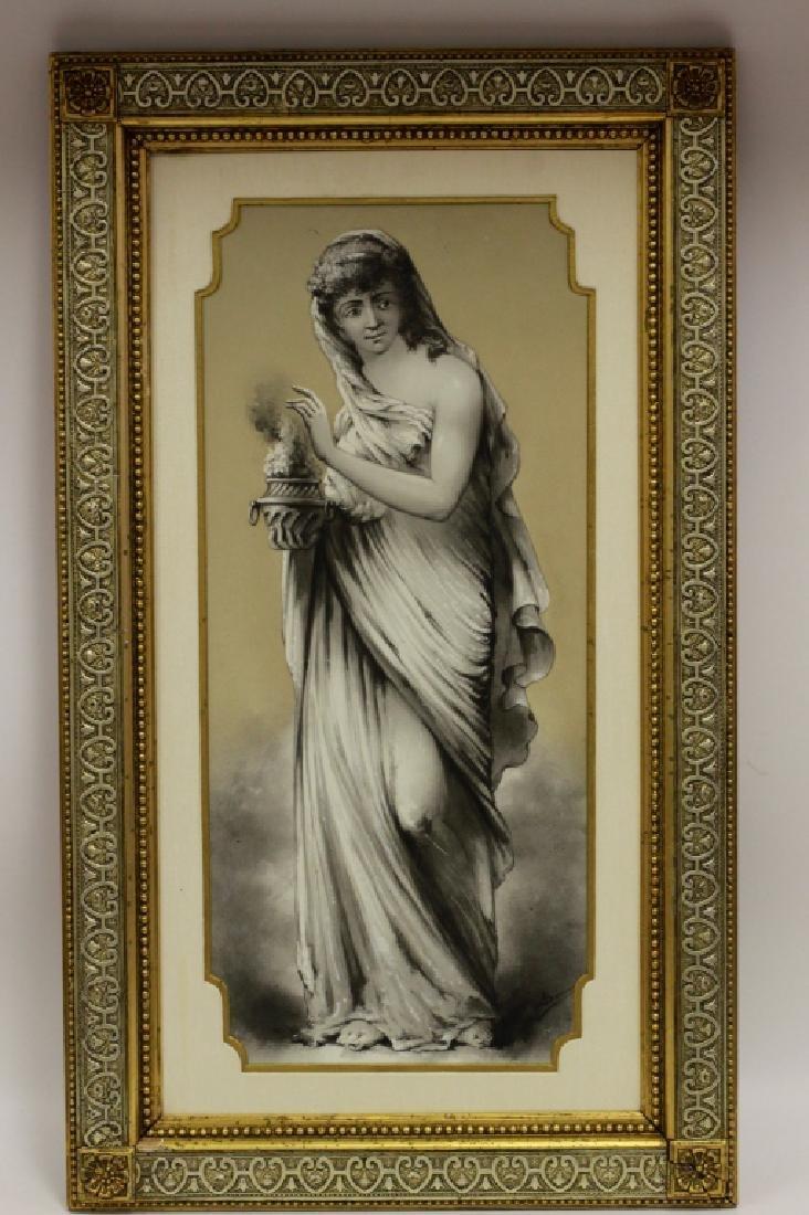Late 19thc Large Porcelain Plaque