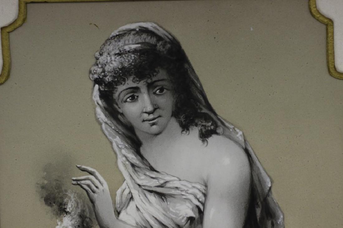 Late 19thc Large Porcelain Plaque - 2