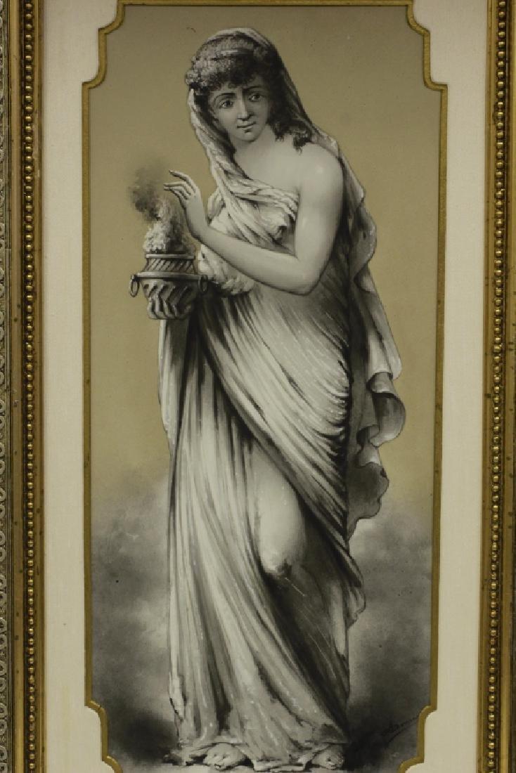Late 19thc Large Porcelain Plaque - 3