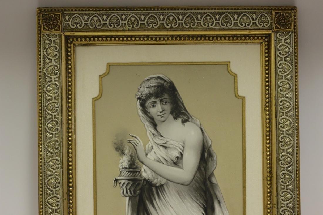 Late 19thc Large Porcelain Plaque - 7
