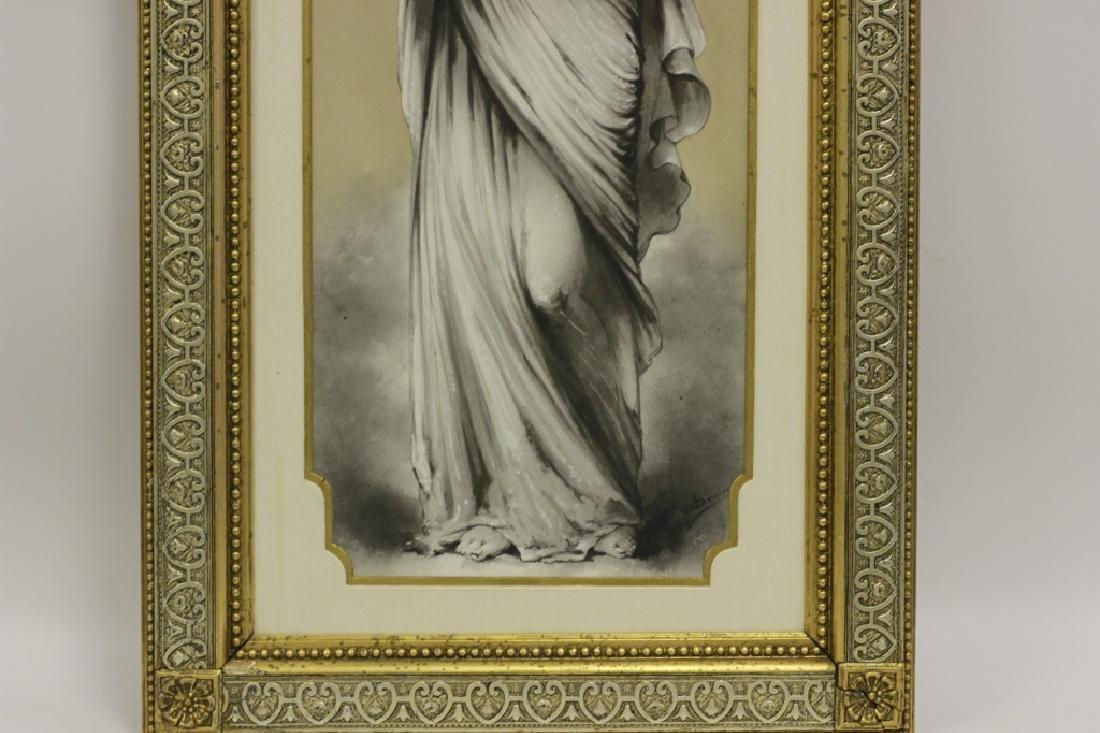 Late 19thc Large Porcelain Plaque - 8
