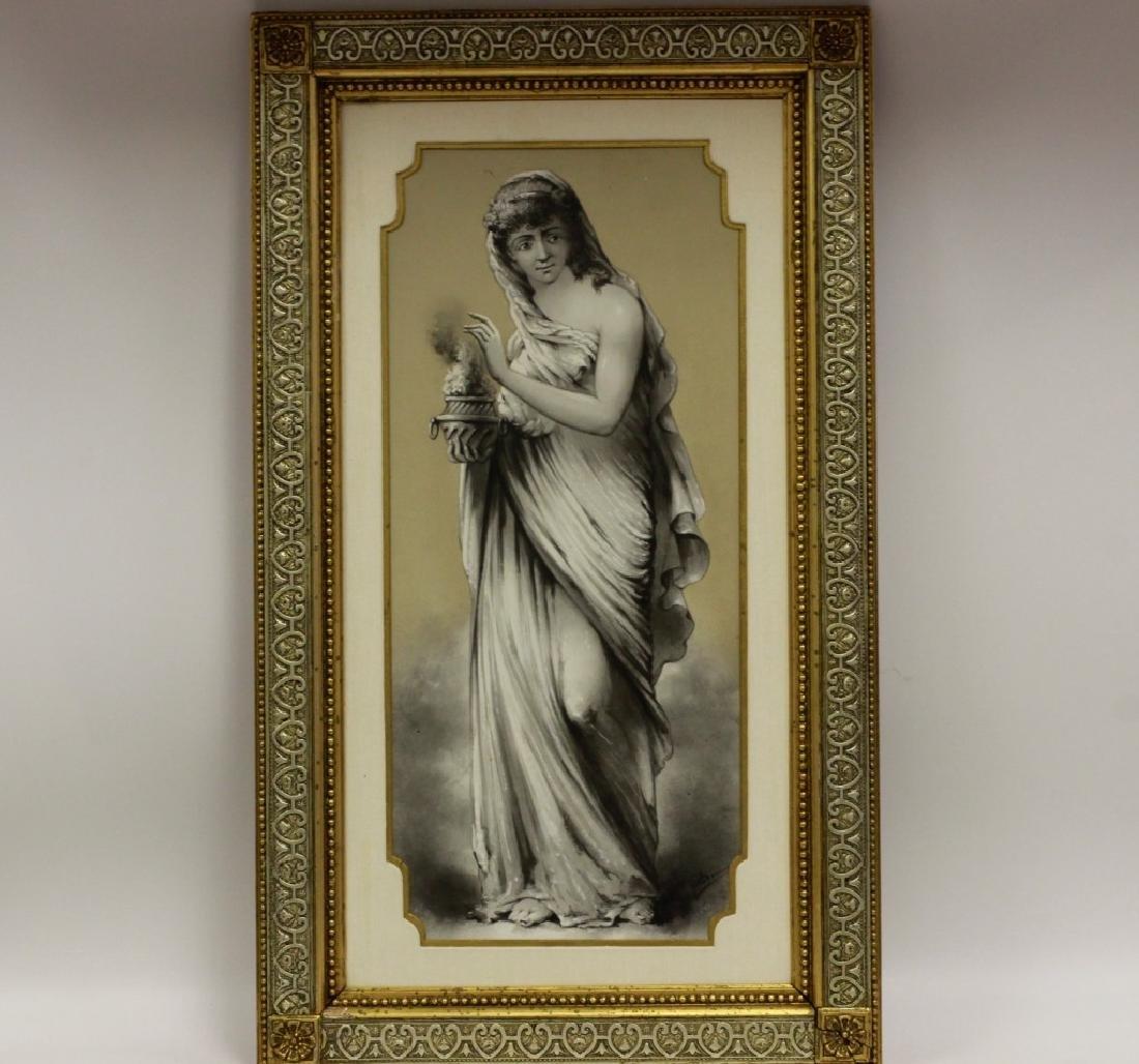 Late 19thc Large Porcelain Plaque - 9