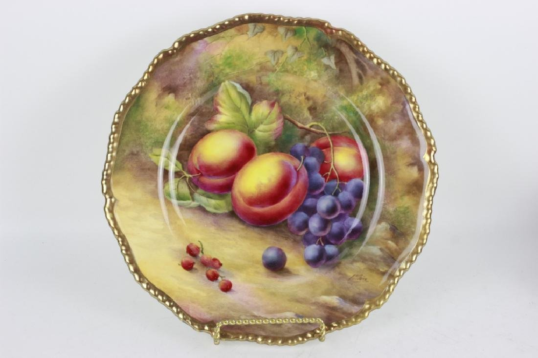 Royal Worcester Hand Painted Plate w/ Fruit Signed