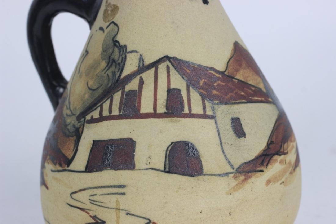 French Art Nouveau Style Pottery Pitcher - 3
