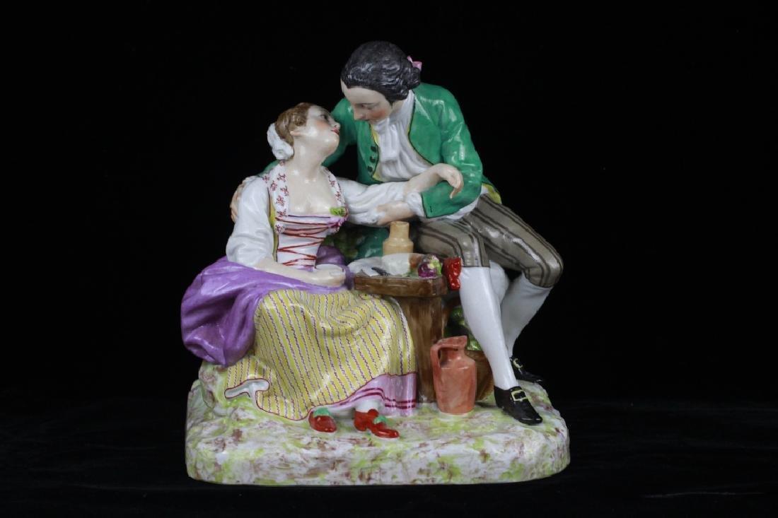 19thc Large Continental/Russian Porcelain Figure