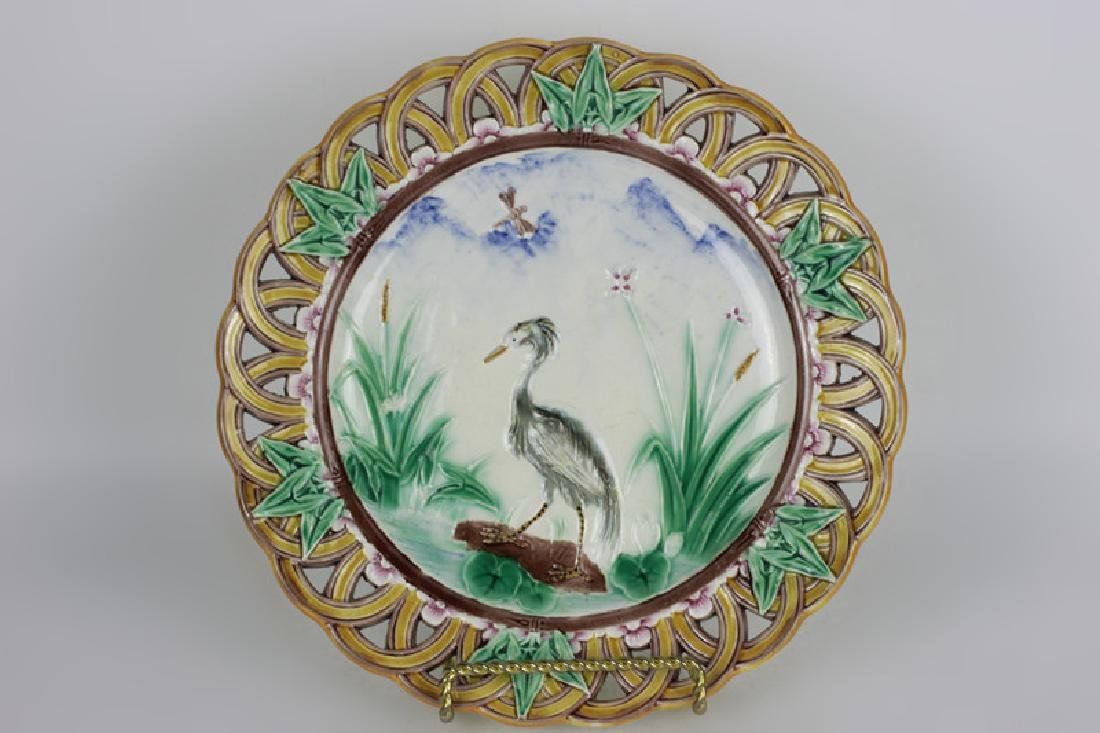 19thc Wedgewood Reticulated Plate