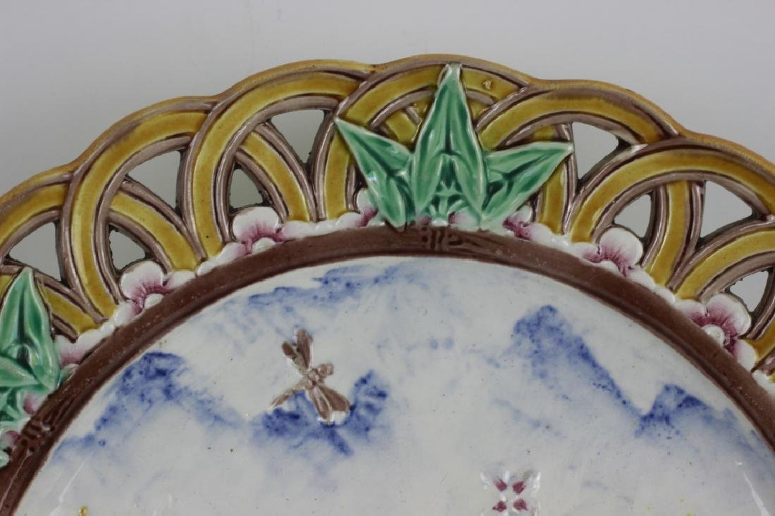 19thc Wedgewood Reticulated Plate - 2