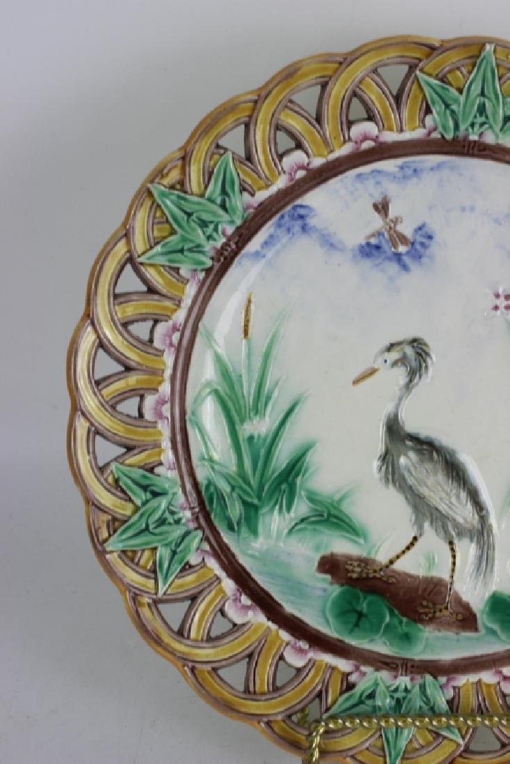 19thc Wedgewood Reticulated Plate - 3