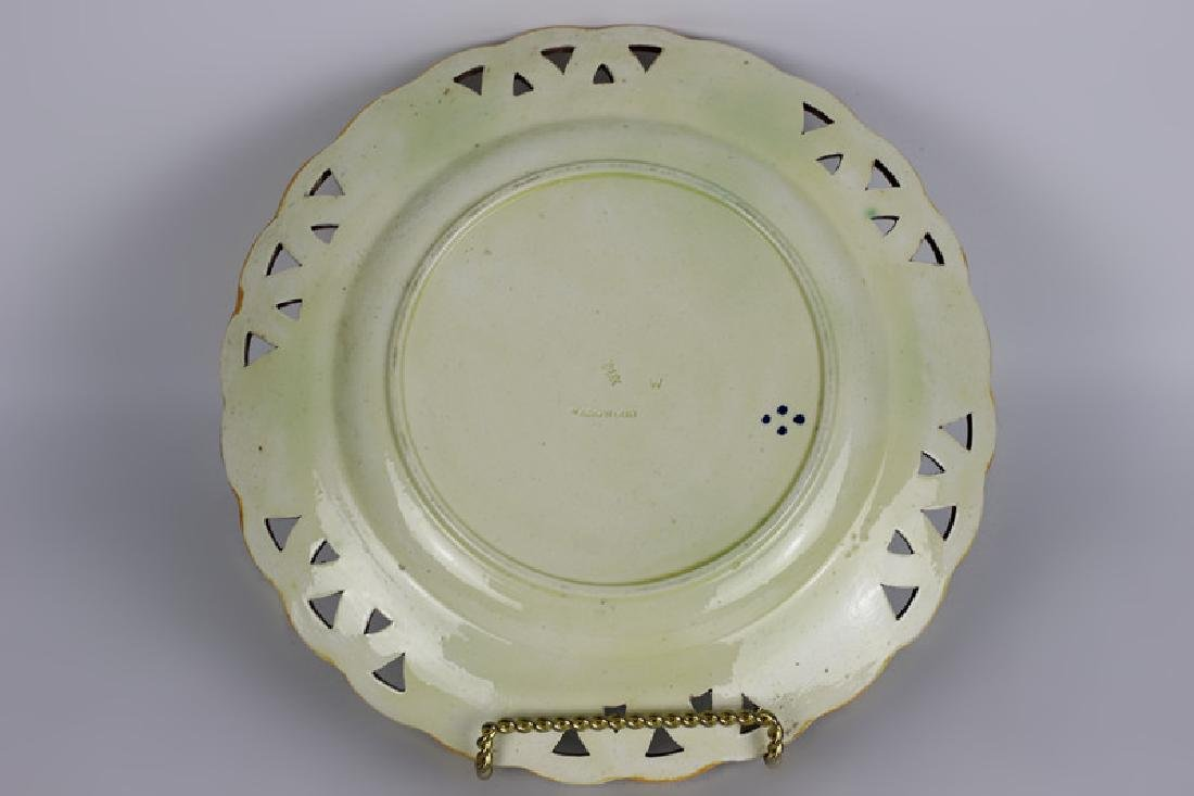 19thc Wedgewood Reticulated Plate - 6