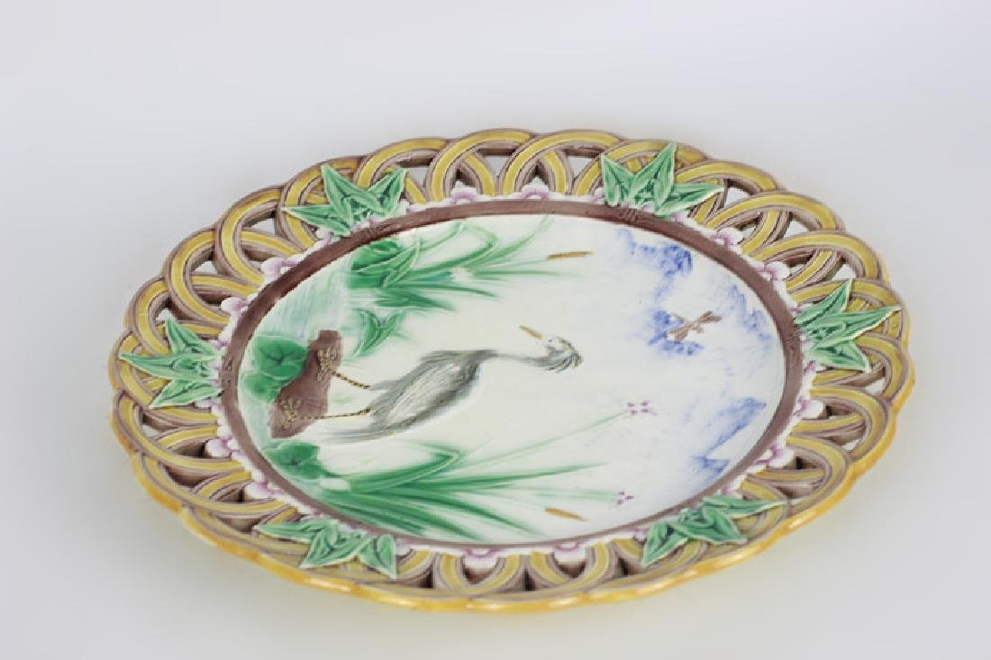 19thc Wedgewood Reticulated Plate - 7