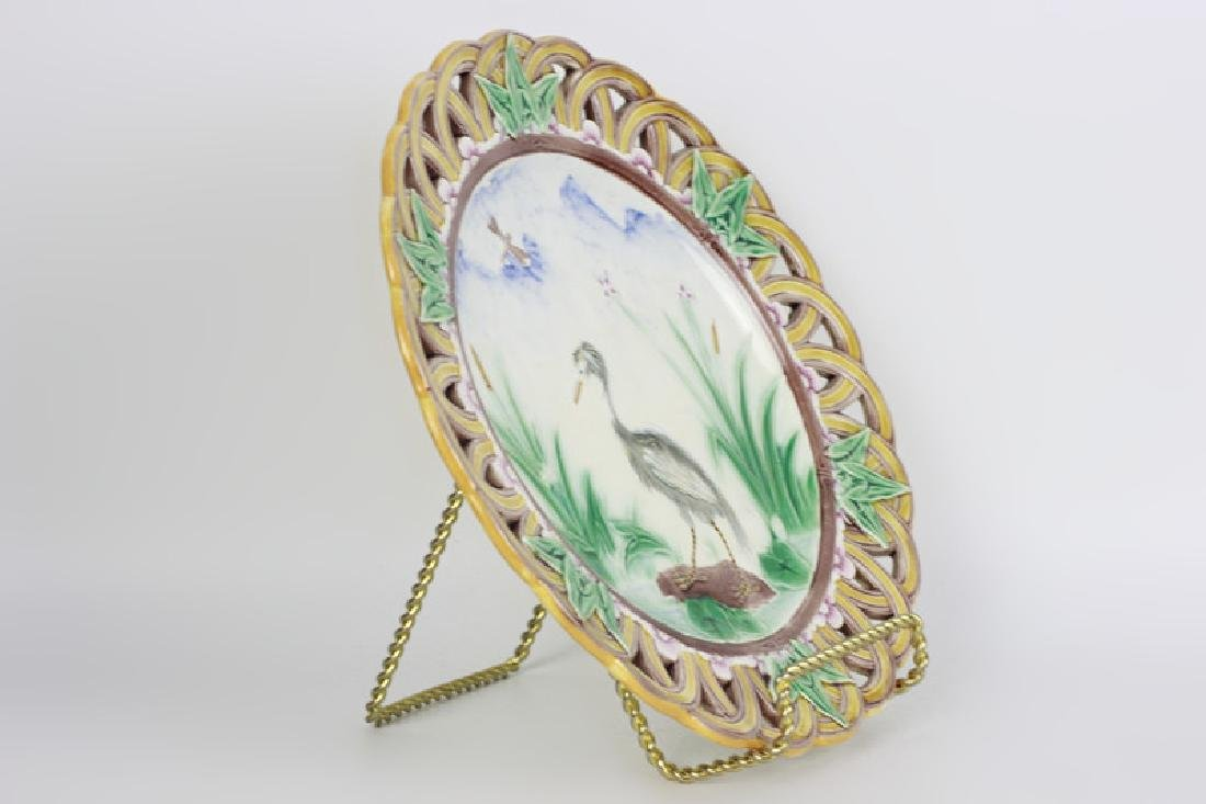 19thc Wedgewood Reticulated Plate - 8