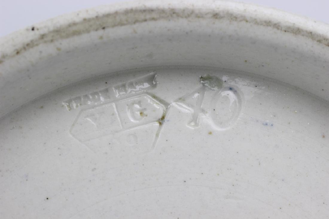 Old French Porcelain Pharmacists Covered Container - 4