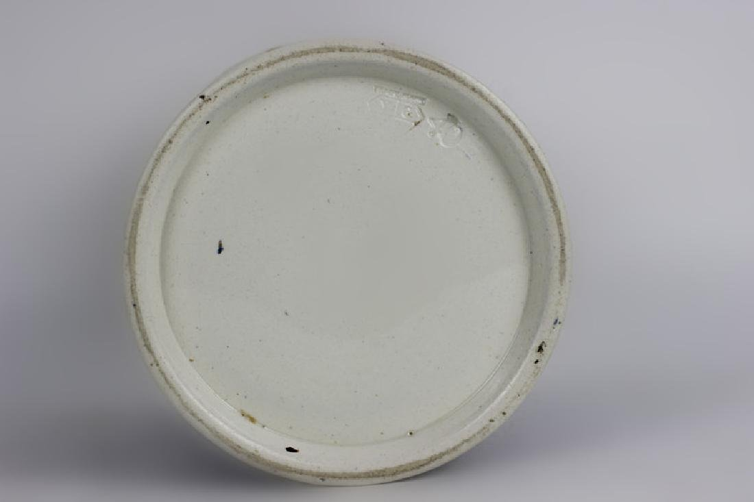 Old French Porcelain Pharmacists Covered Container - 6