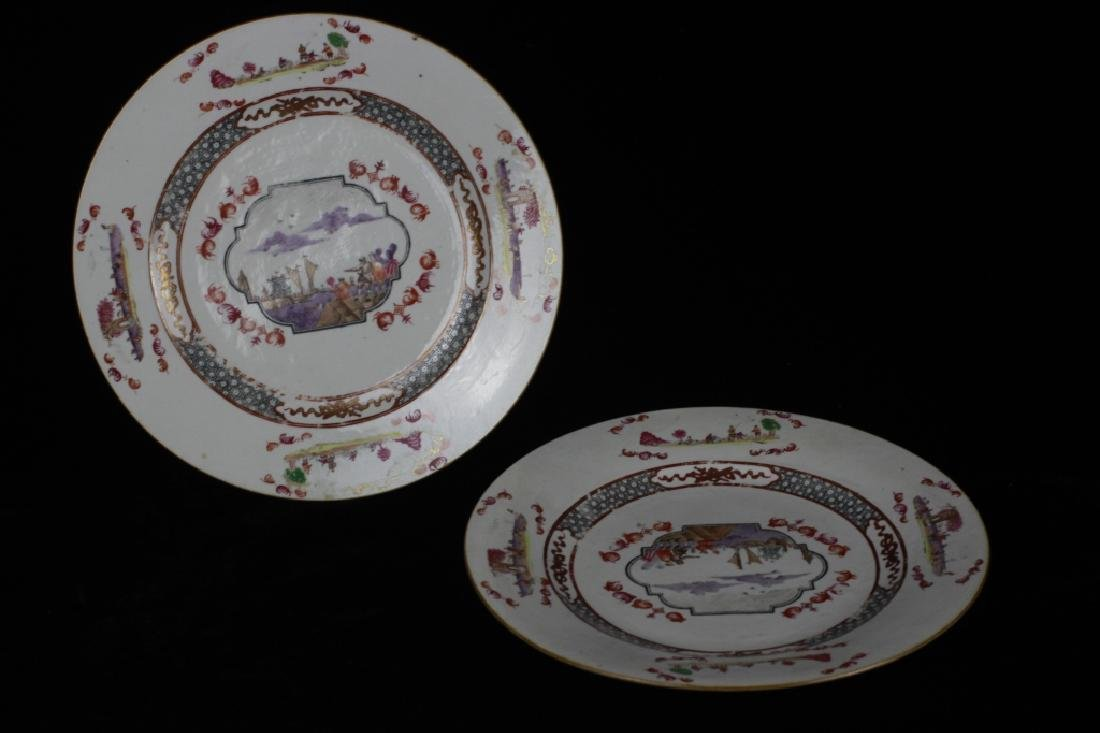 Chinese Pair of 19thc Export Porcelain Plates - 10