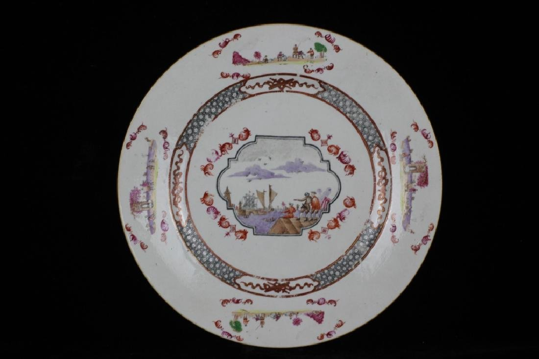 Chinese Pair of 19thc Export Porcelain Plates - 2