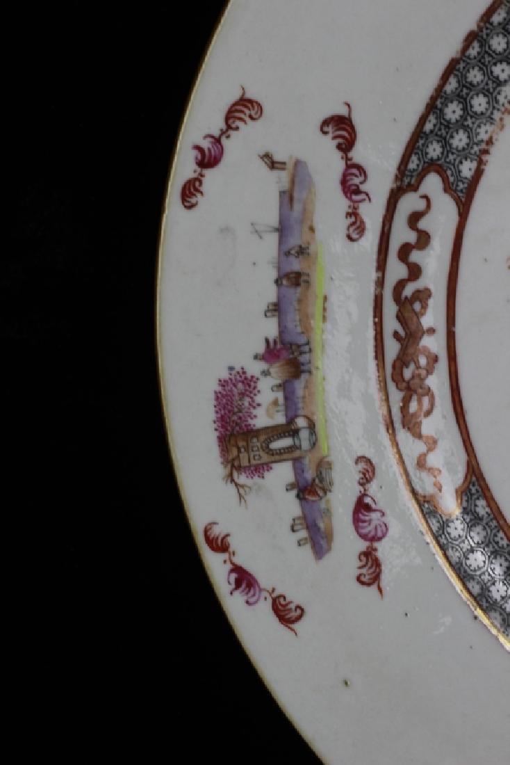 Chinese Pair of 19thc Export Porcelain Plates - 5