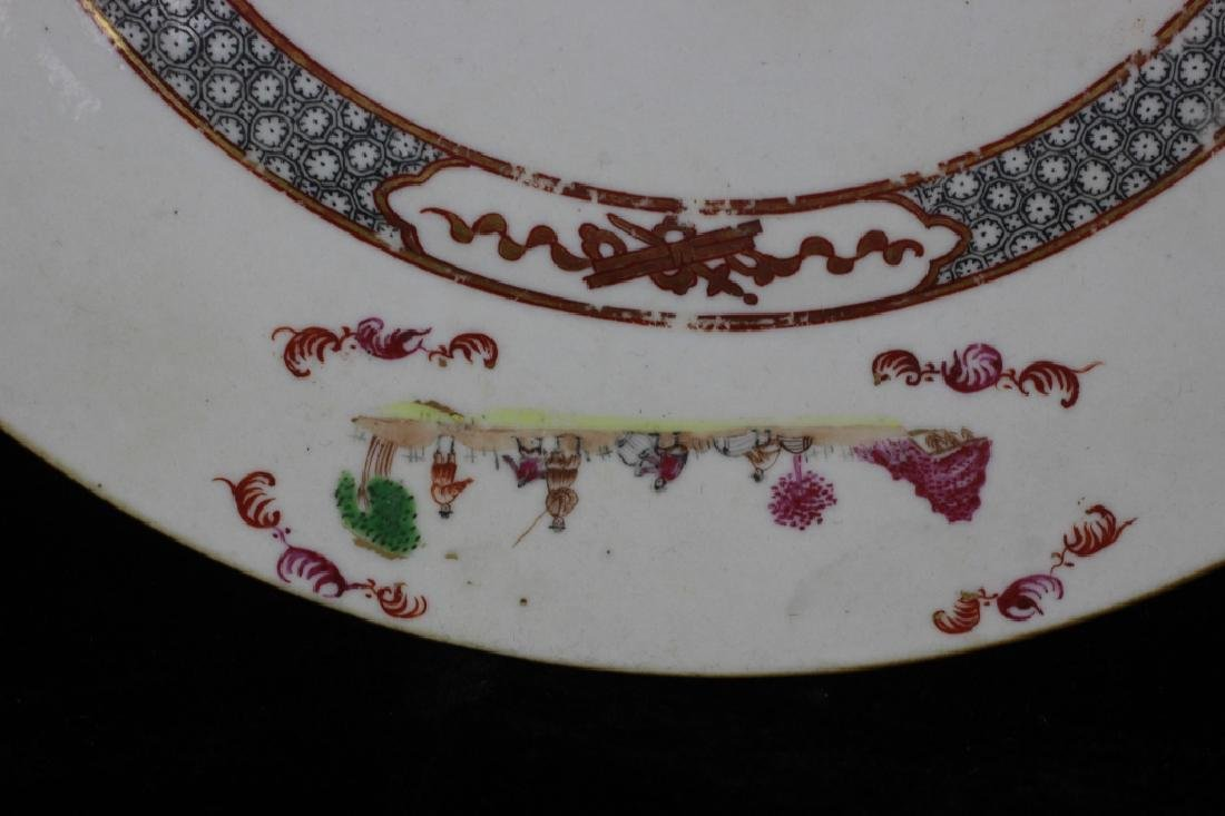 Chinese Pair of 19thc Export Porcelain Plates - 6
