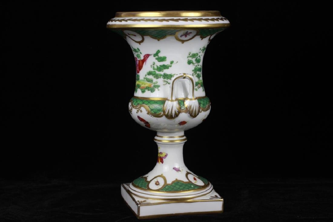 Pair of 19thc English Chelsea Hand Painted Urns - 4