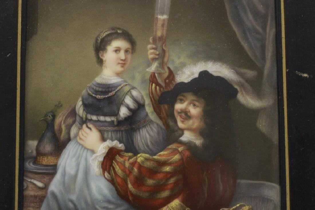 German Porcelain Plaque (Dresden),  After Rembrandt - 2
