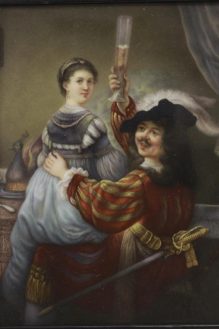 German Porcelain Plaque (Dresden),  After Rembrandt - 3