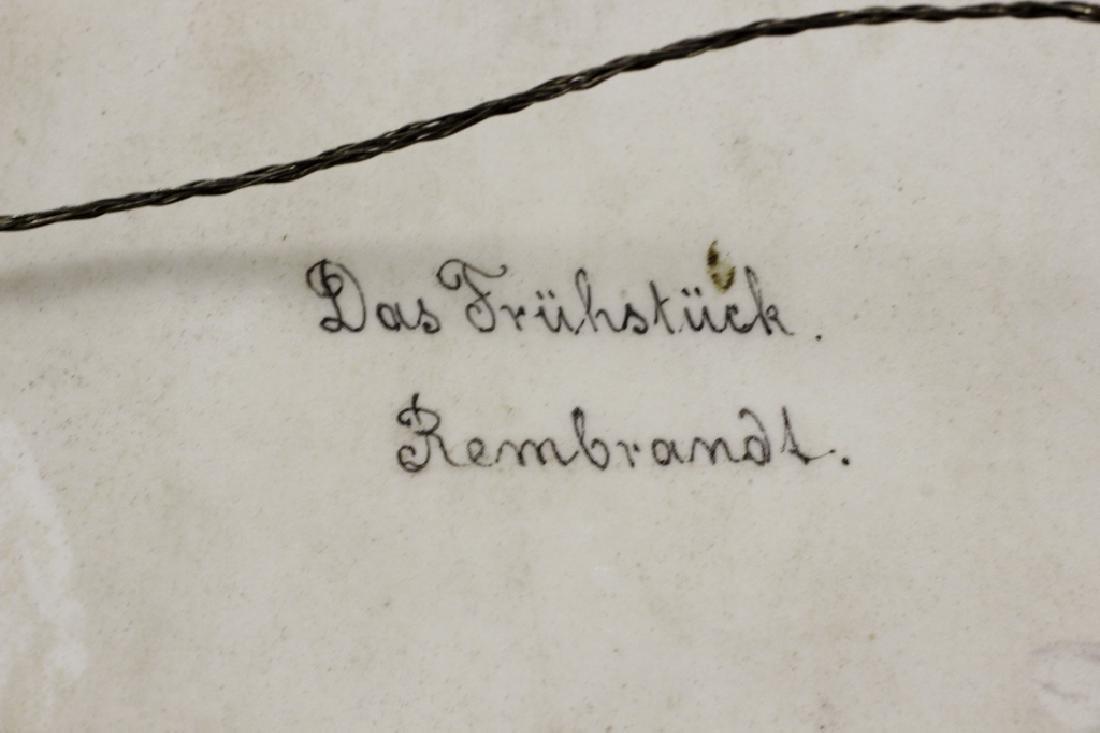 German Porcelain Plaque (Dresden),  After Rembrandt - 6