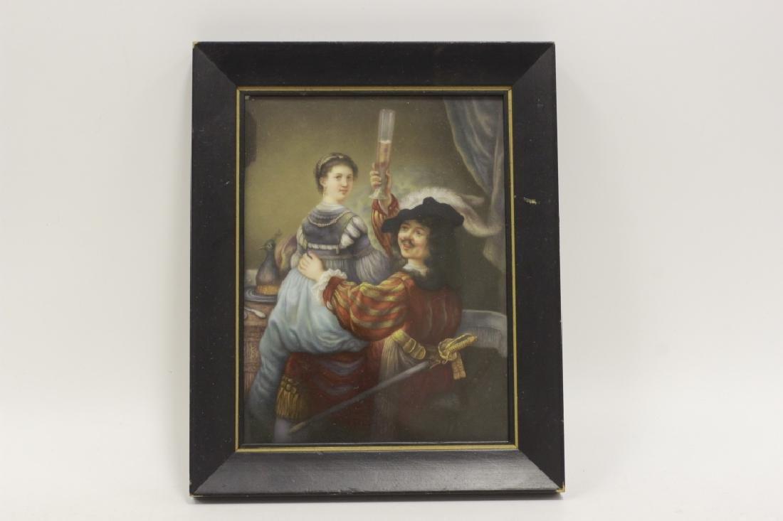 German Porcelain Plaque (Dresden),  After Rembrandt - 8