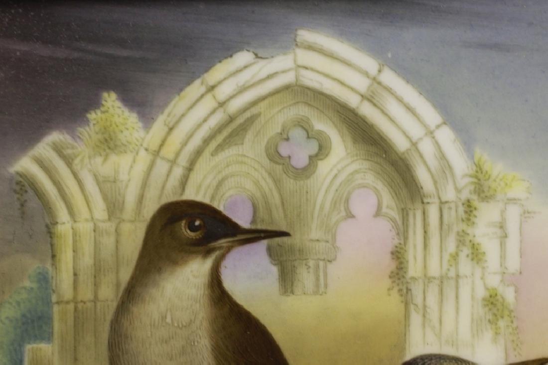 19thc English Porcelain Plaque of Birds Circa 1842 - 4