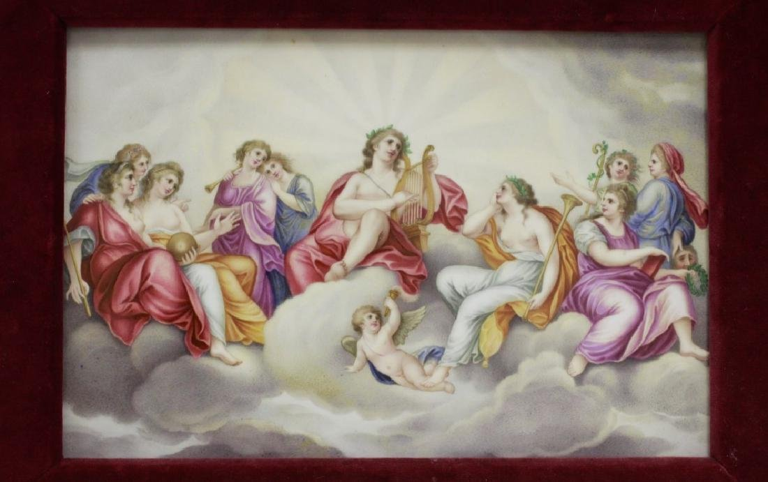 19thc Large Coalport Porcelain Plaque - 2