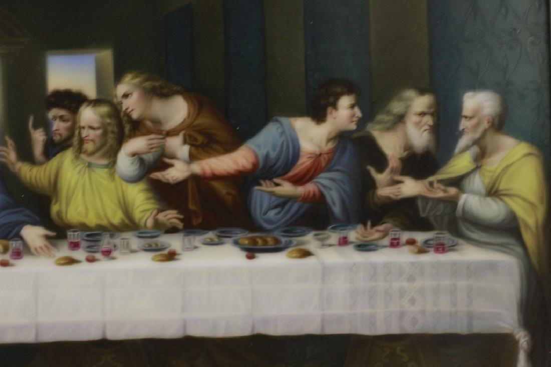 19thc Porcelain Plaque, Last Supper - 2
