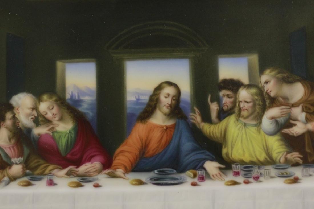 19thc Porcelain Plaque, Last Supper - 4