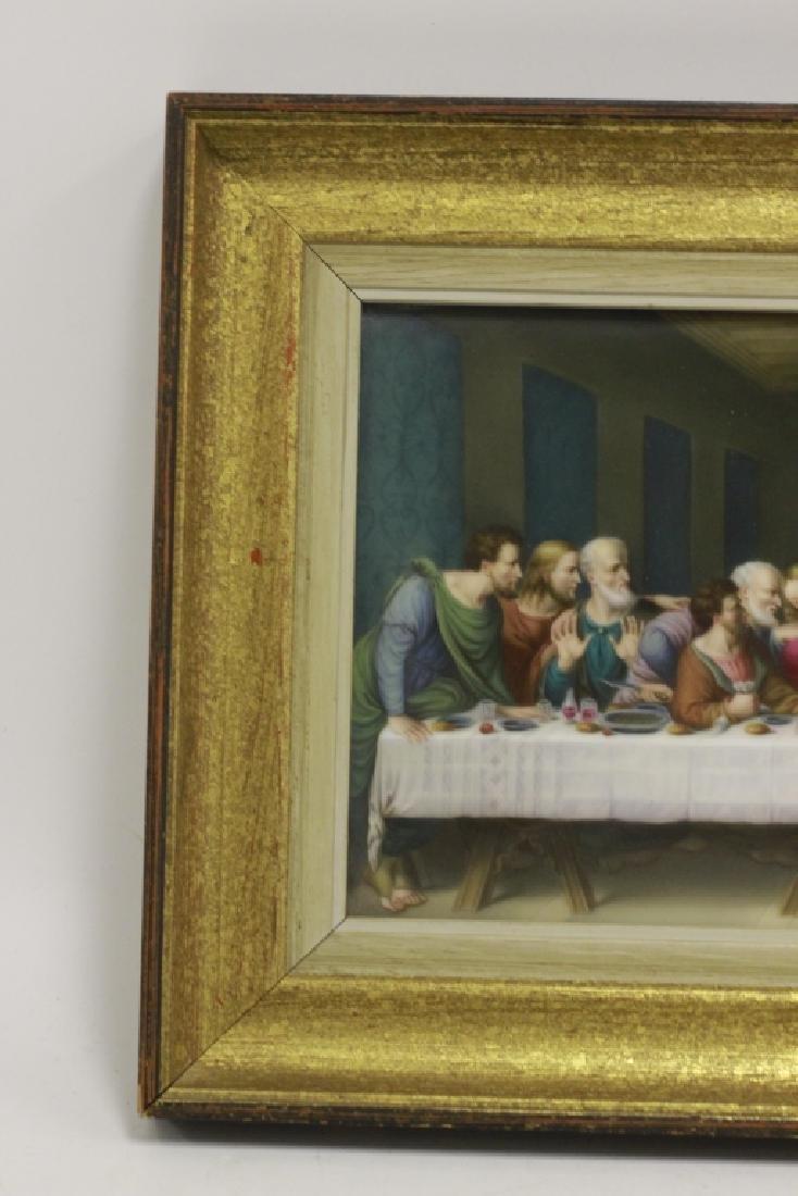 19thc Porcelain Plaque, Last Supper - 5
