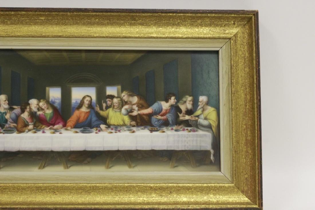 19thc Porcelain Plaque, Last Supper - 6