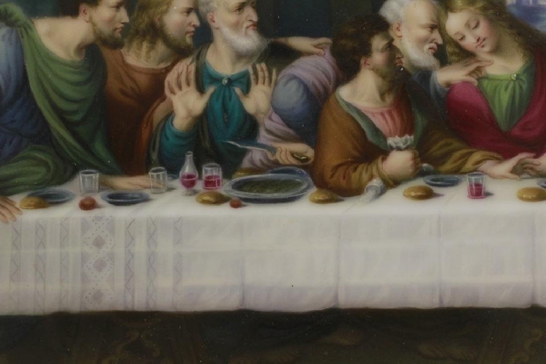 19thc Porcelain Plaque, Last Supper - 7