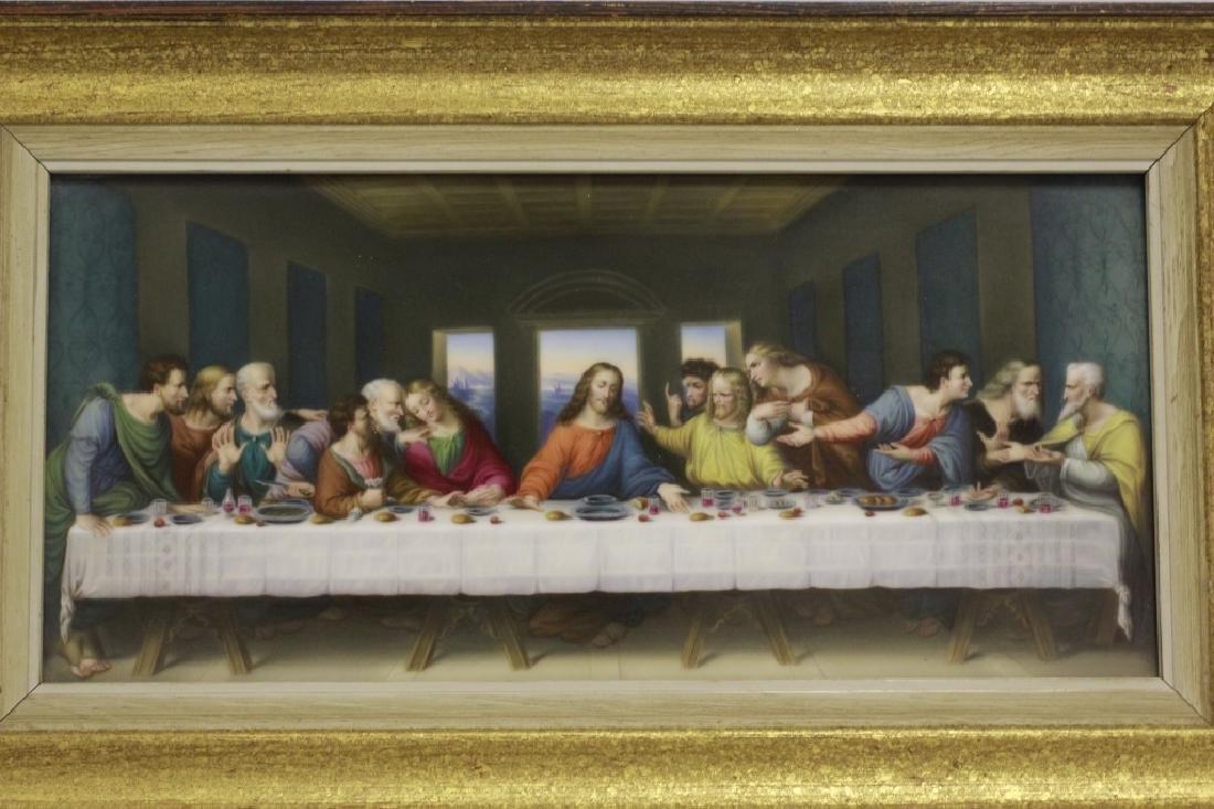 19thc Porcelain Plaque, Last Supper - 9