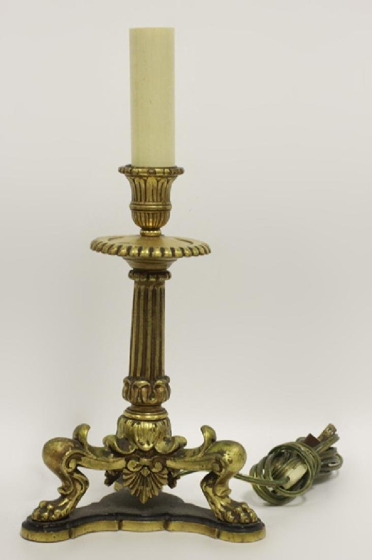 Pair of Early 20thc Bronze Lamps - 3