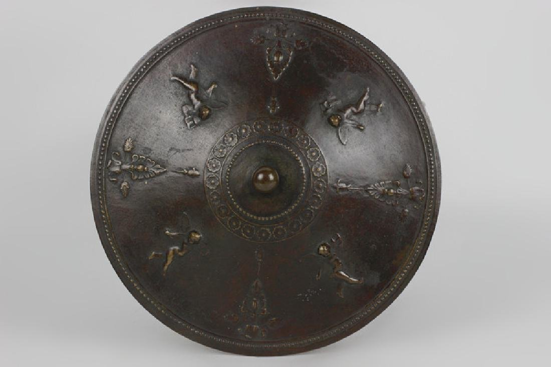 Late 19thc Early 20thc Bronze Covered Bowl - 3