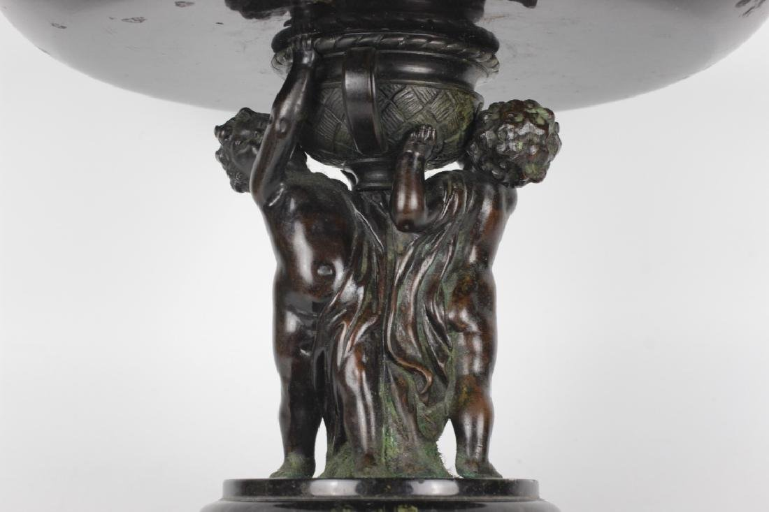 19thc Marble & Bronze Footed Compote - 5
